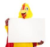 kurczaka mienia mężczyzna znak Obrazy Royalty Free