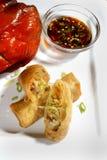 kurczaka naczynia jajeczna rolka Fotografia Stock