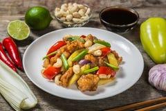 kurczaka nerkodrzewu orzechy Krajowy naczynie Tajlandzka kuchnia Zdjęcie Royalty Free