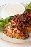 kurczaka piekarnik piec skrzydła Fotografia Royalty Free