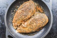 Kurczaka polędwicowy marynowany dla grilla Zdjęcie Stock