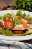 kurczaka polewki warzywo zdjęcia stock