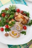 Kurczaka Prosciutto rolada Zdjęcia Royalty Free