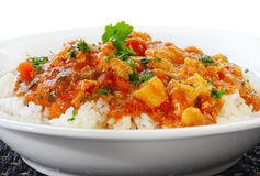 Kurczaka Rice Curry i Fotografia Royalty Free