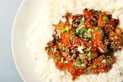 kurczaka ryż sezam zdjęcia royalty free