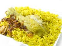 Kurczaka Ryżowy curry, indyjski jedzenie Fotografia Stock