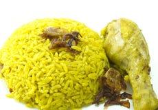 Kurczaka Ryżowy curry, indyjski jedzenie Obraz Stock
