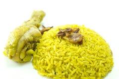 Kurczaka Ryżowy curry, indyjski jedzenie Fotografia Royalty Free