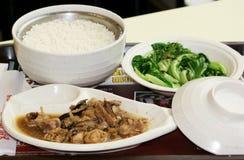 kurczaka ryż set zdjęcia royalty free