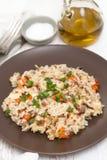 kurczaka ryż warzywa zdjęcia royalty free