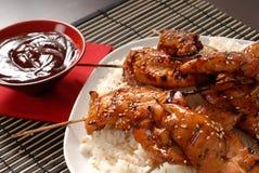 kurczaka satay grillowany Obraz Stock