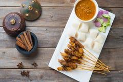 Kurczaka satay popularny azjatykci naczynie zdjęcia royalty free