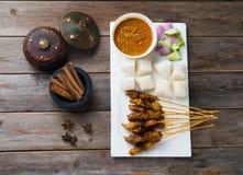 Kurczaka satay popularny azjatykci naczynie zdjęcia stock