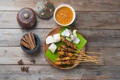 Kurczaka satay popularny azjatykci naczynie obrazy stock