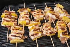 Kurczaka shish kebab z ananasami Obrazy Stock