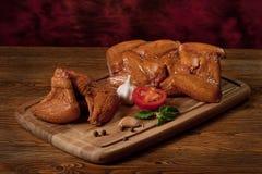 kurczaka składu uwędzeni skrzydła Zdjęcie Royalty Free