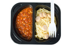 Kurczaka spaghetti Obraz Stock
