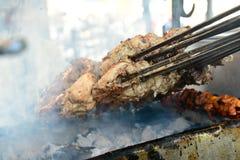 Kurczaka Tikka przygotowanie Obrazy Stock