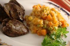 kurczaka wątróbki warzywa Obraz Stock
