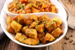 Kurczaka warzywo i curry fotografia royalty free