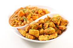 Kurczaka warzywo i curry obrazy royalty free