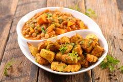 Kurczaka warzywo i curry zdjęcie stock