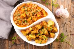 Kurczaka warzywo i curry zdjęcia stock