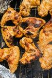 kurczaki pieczone skrzydełka Zdjęcie Stock