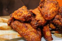 kurczaki pieczone skrzydełka Fotografia Stock