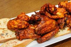 kurczaki pieczone skrzydełka Obraz Stock