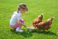 kurczaki target1266_1_ dziewczyny Obraz Stock