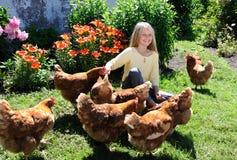 kurczaki target1886_1_ dziewczyny zdjęcia royalty free