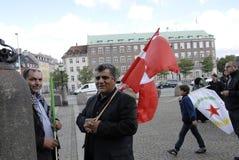 KURDEN INSZENIERTEN TÜRKISCHE-PRÄSIDENTEN DAS PROTES-SAMMLUNGS-AAINST Stockbild