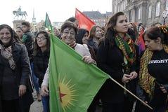 KURDEN INSZENIERTEN TÜRKISCHE-PRÄSIDENTEN DAS PROTES-SAMMLUNGS-AAINST Stockfotos