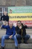KURDER ARRANGERADE PROTES SAMLAR AAINST-TURKPRESIDENT Royaltyfria Foton