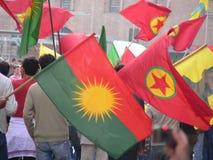 Kurdes protestation, Bologna Photo stock
