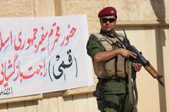 Kurdischer Soldat stockfotos
