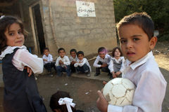 kurdish barn Arkivbilder