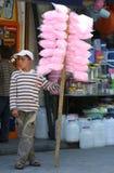 A Kurdish boy in Urfa in Turkey. A Kurdish boy selling fairy floss stands outside the Urfa Bazaar in Urfa (Sanliurfa) in south eastern Turkey Stock Photos