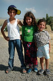 Kurdish children playing in the village Royalty Free Stock Photo