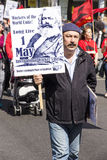 Kurdish Communist at May Day Rally Stock Photos