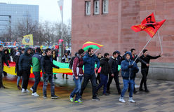 Kurdish Demonstration in Germany Stock Photography