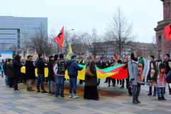 Kurdish Demonstration in Germany Stock Photo