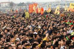Kurdish Feast Newroz. KURDİSH FEAST NEWROZ,ISTANBUL,TURKEY -MARCH 20: Kurdish feast Newroz was celebrated by Kurds on March 20, 2011 in Istanbul, Turkey Stock Photography