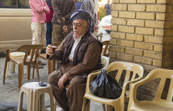 Kurdish gamal man Royaltyfri Bild