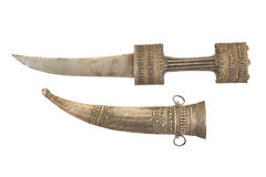 A Kurdish Khanjar Dagger with Sheath Royalty Free Stock Photography