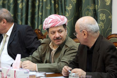 Kurdish Leader Massoud Barzani Royalty Free Stock Image