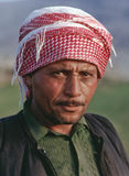 Syrian man wearing kaffiyeh, northwest Syria. A Syrian man wearing a kaffiyeh in northwestern Syria near the Turkish border. Possibly Kurdish stock image