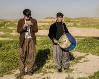 Kurdish men playing music