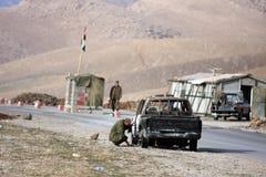 Kurdish Military Checkpoint Stock Photography
